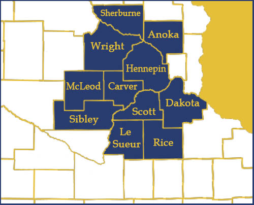 MN Counties served